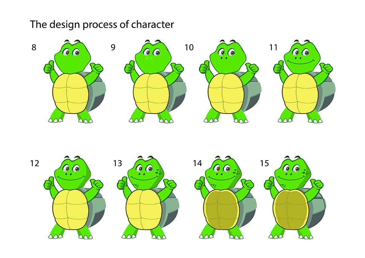 Dpwdesign, making turtle character 2