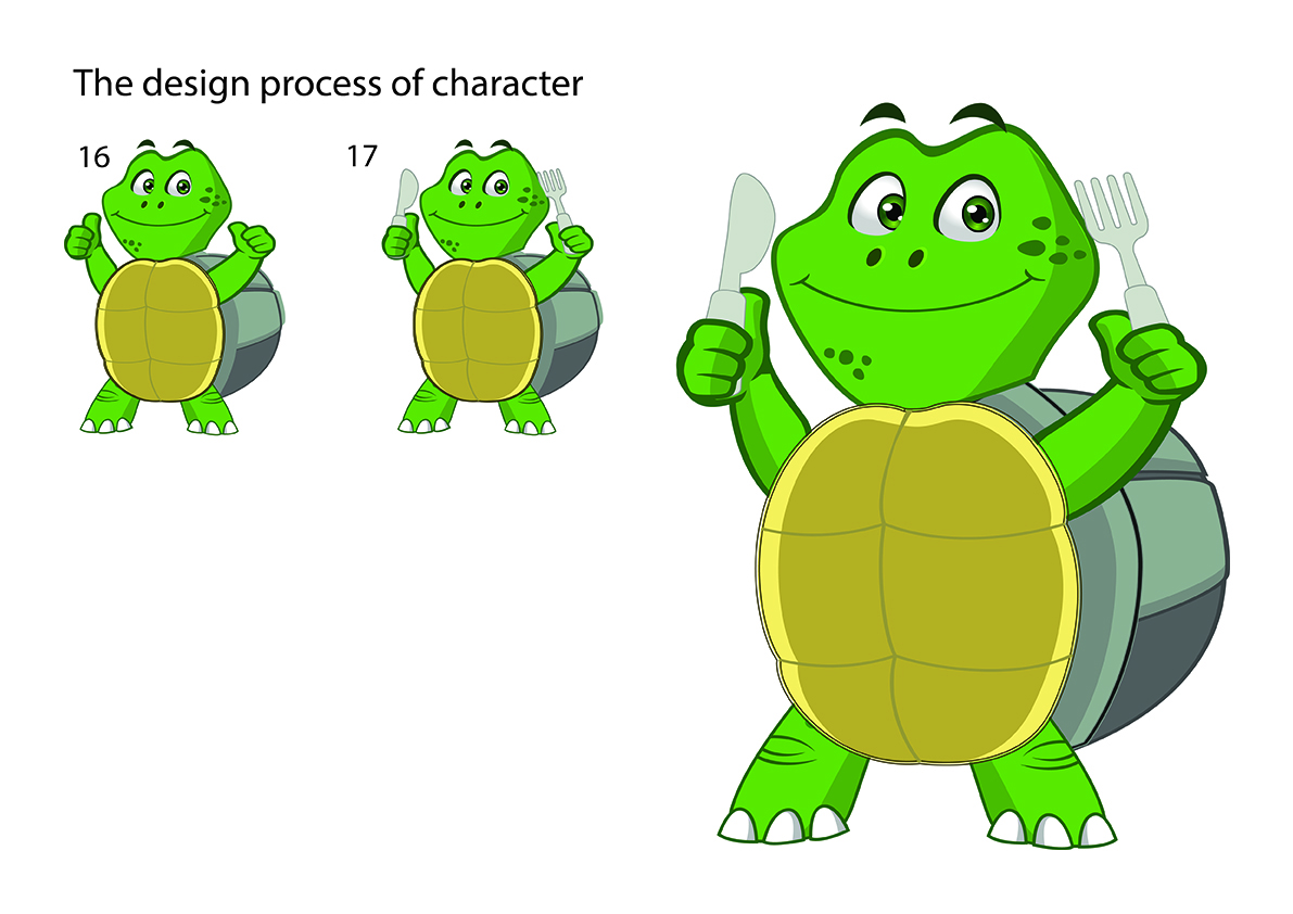 Dpwdesign, making turtle character 3