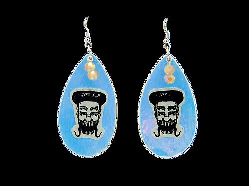 Holographic Blue Skelz Earrings