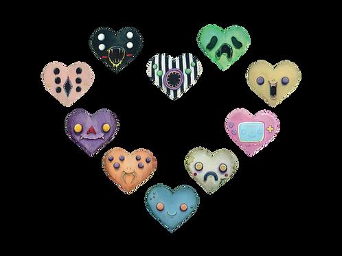Nocturn Hearts Sticker Pack
