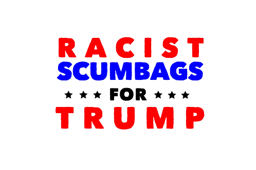 Scumbags for Trump Stickers