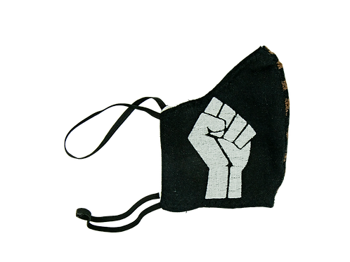 Black Power Fabric Face Mask