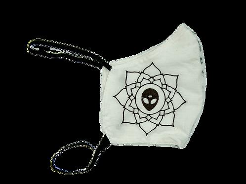 Alien Lotus Fabric Face Mask