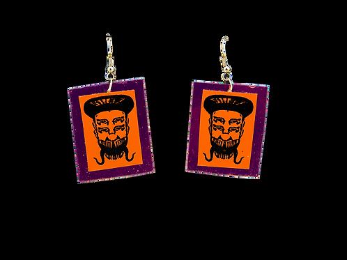 Holographic Orange Skelz Earrings