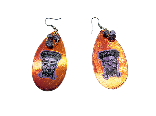 Holographic Orange Skelz Earrings