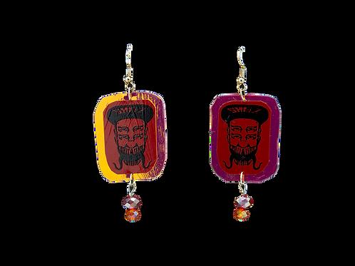 Holographic Red Skelz Earrings