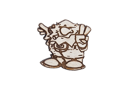 Dwarfman Wood Pin