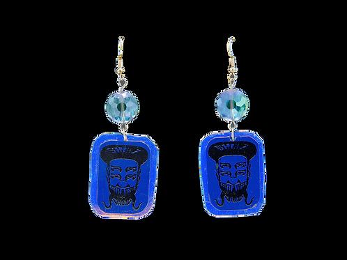 Holographic Purple Skelz Earrings
