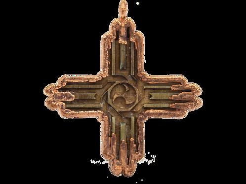 Electroformed Zia Pendant