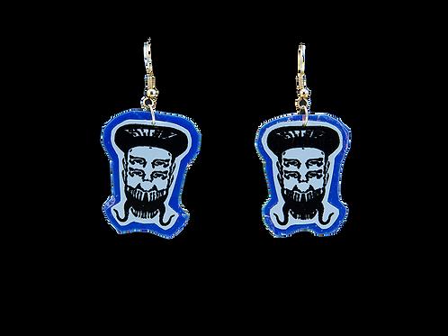 Holographic Indigo Skelz Earrings
