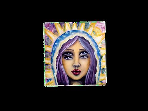 Saint double eyes sticker