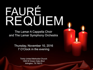 Faure Requiem November 10 at Trinity UMC in Arlington