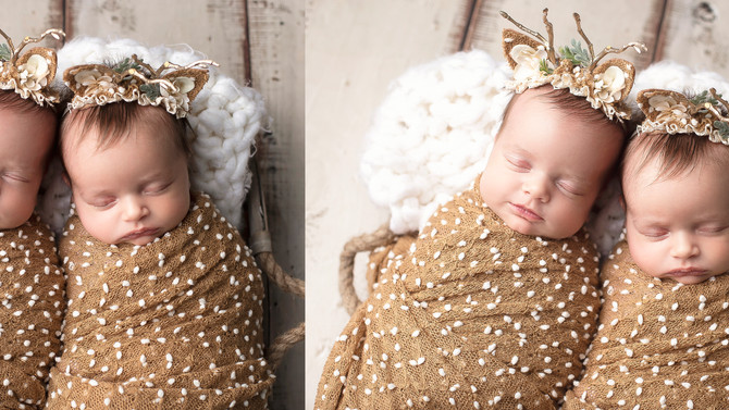 Double the sweetness|Monmouth County Photographer|Newborn Session|Twin Session