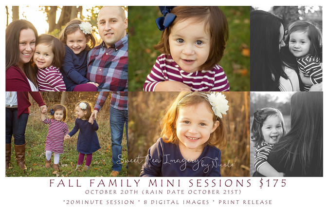 Fall Family Mini Sessions | Monmouth County
