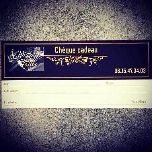 Chèque cadeau tatouage