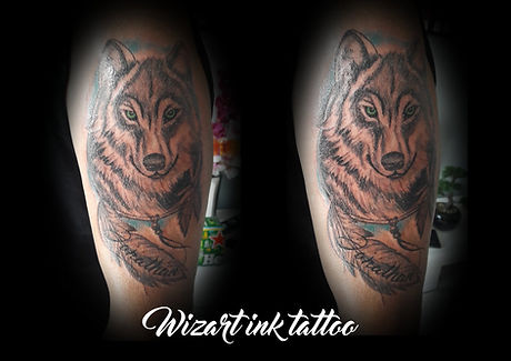 Tattoo final loup