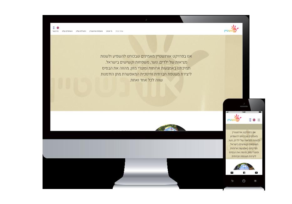 עיצוב אתרי ויקס , אתר תדמית עמותה