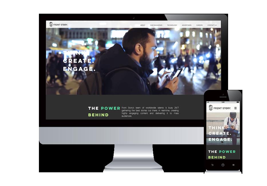 frontstory אתר וויקס