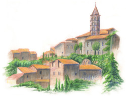 Rooftops in Viterbo