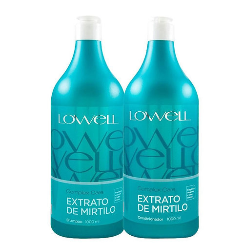 Kit Lowell Shampoo+Condicionador Complex Care Blueberry Extract 2X1L