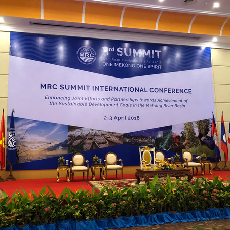 Reporting from Mekong River Commission (MRC) Conference