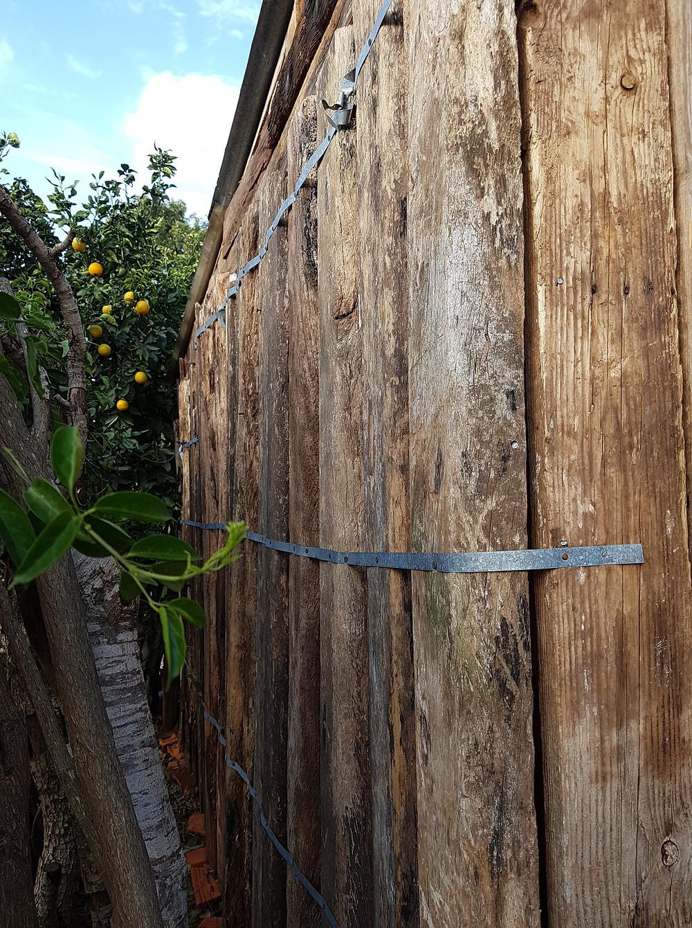 reused-wood hut