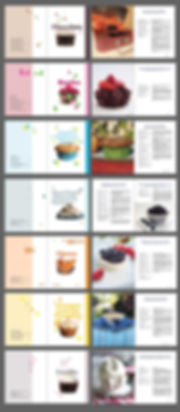 עיצוב לספר מתכונים אלקטרוני ומודפס