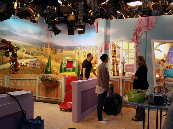 TV studio backdrop