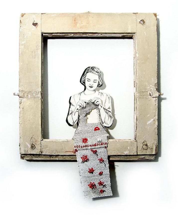 knitting girle