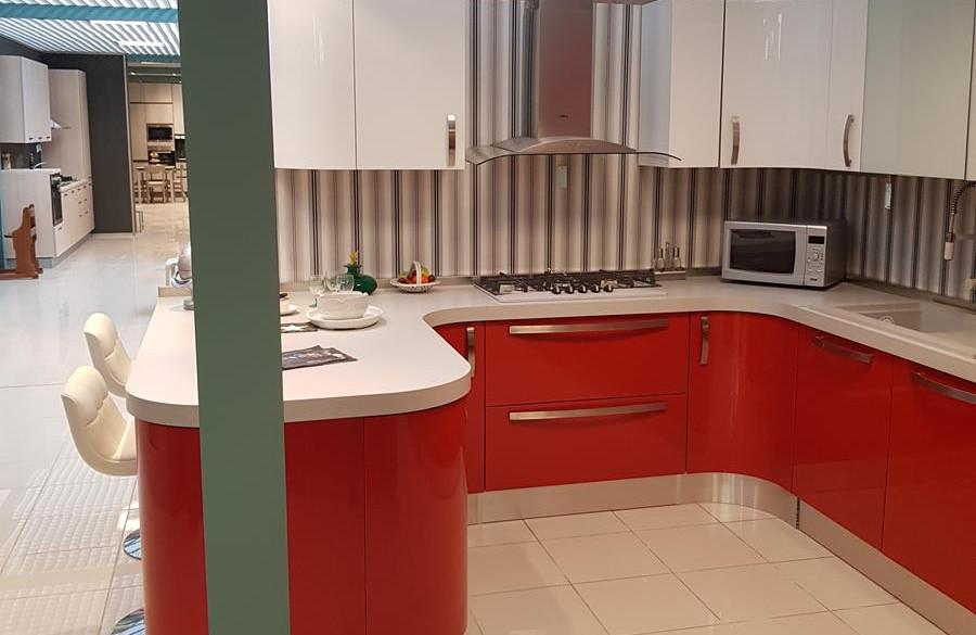 4/12) Cucina Prodomo laccata rossa