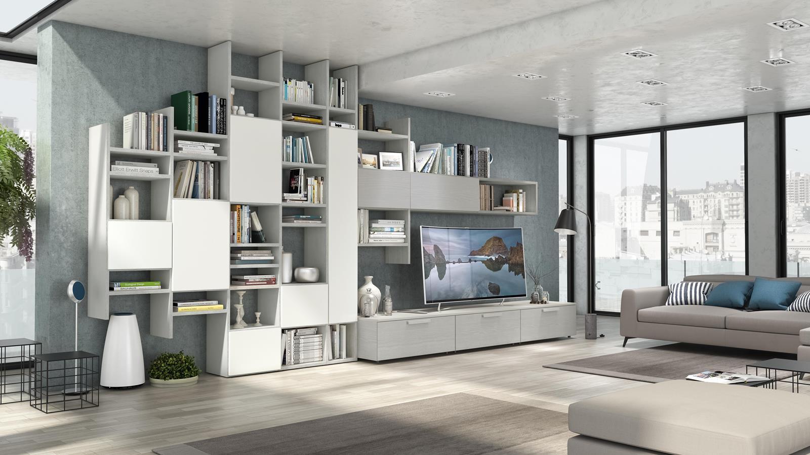 Soggiorni-moderni, pareti attrezzate | Reggiolo | IMPERIAL ...