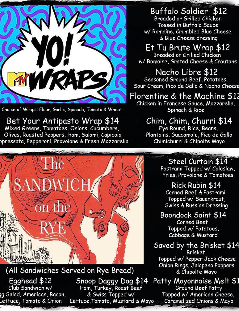 Wraps & Rye Page