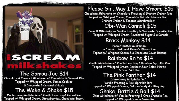 Milkshakes & Floats Page