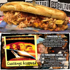 The #Parmageddon Challenge at #SubCulture. Think you have what it takes to survive the Parmageddon?