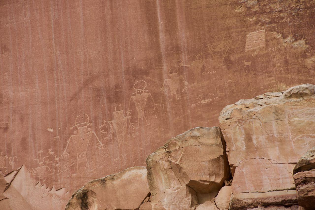 Petroglyphen der Hopi Indianer