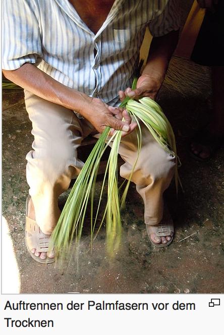 Faser für die Hüte