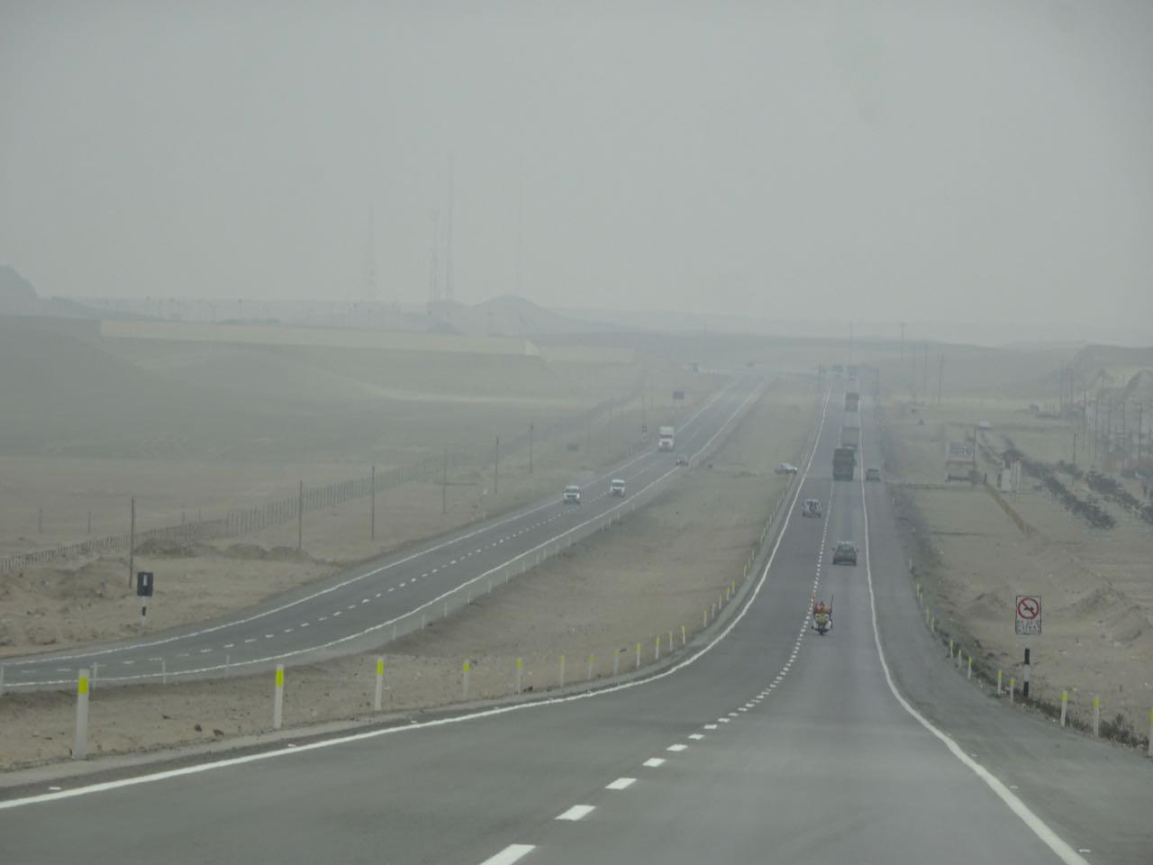 Nebel vor Lima