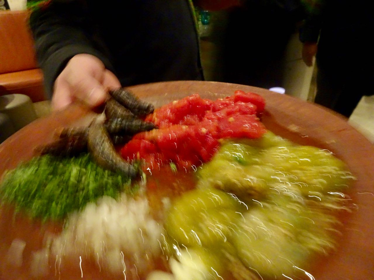 Zutaten für frische Salsa picante