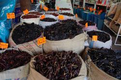 Chilis auf dem Markt