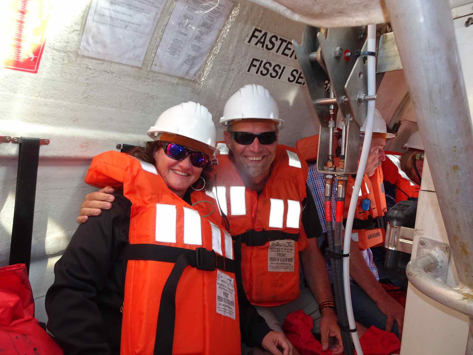 Brütende Hitze im Lifeboat