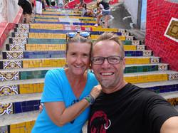Auf der Treppe von Selarón