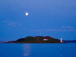 Vollmond über Georges Island