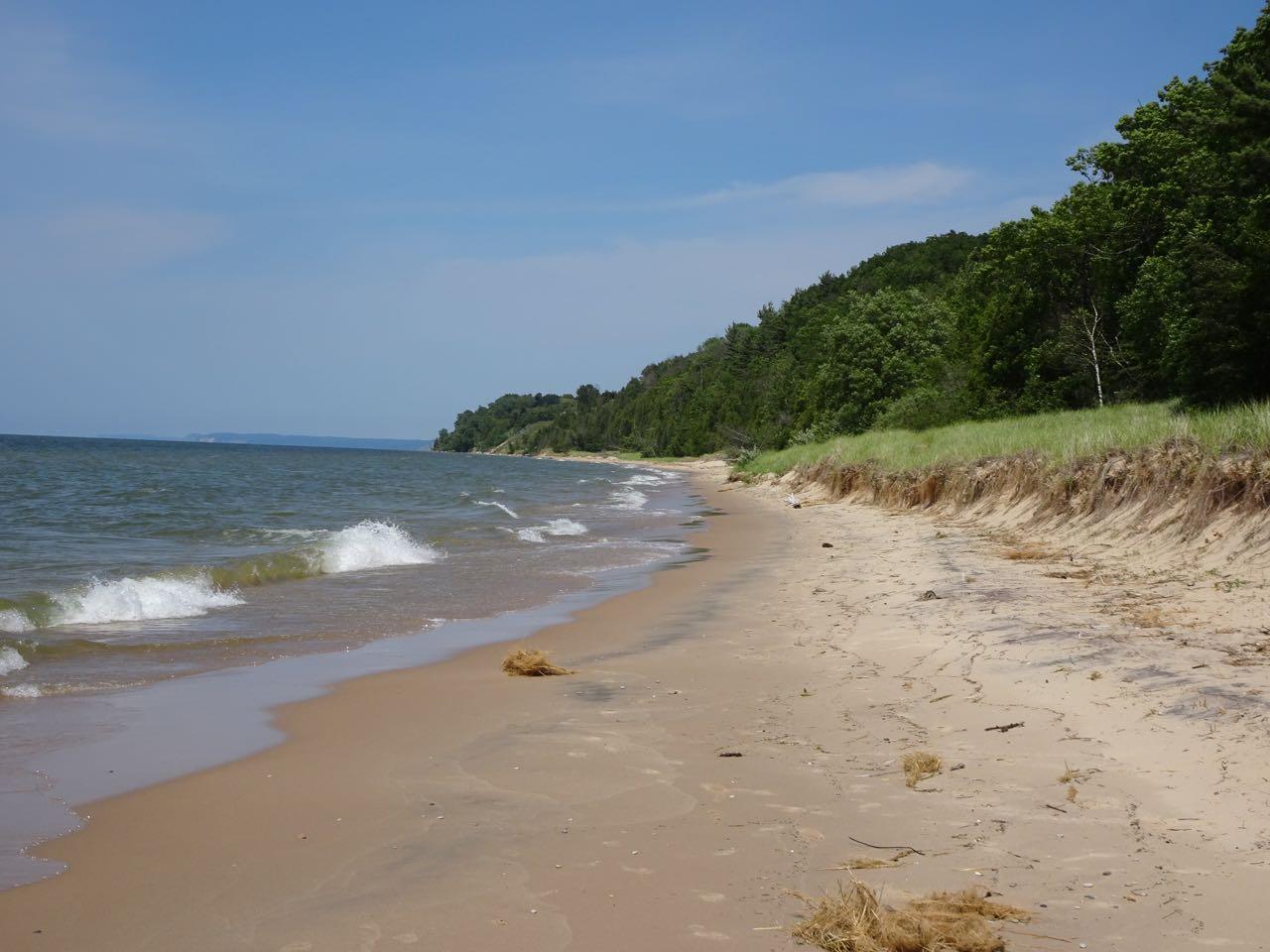 Beach am Lake Michigan