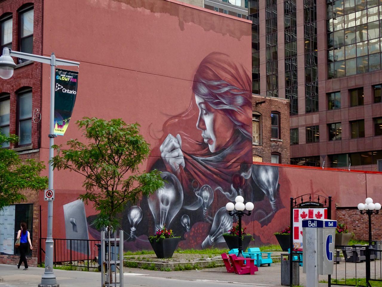 Auch hier; schöne Wandkunst