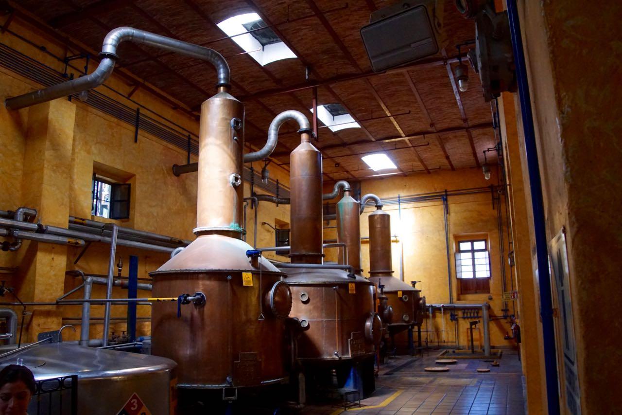 - Saft wird destilliert
