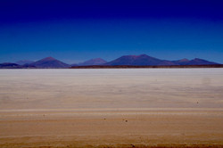 Erster Blick auf den Salar de Uyuni