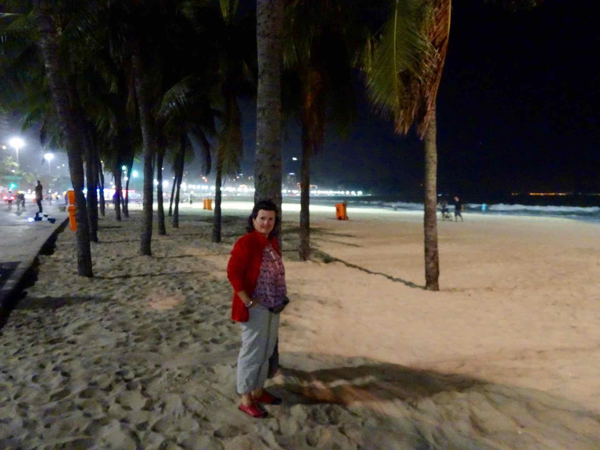 mü am Strand der Copa