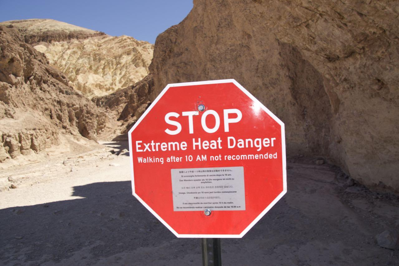Hitze Warnung