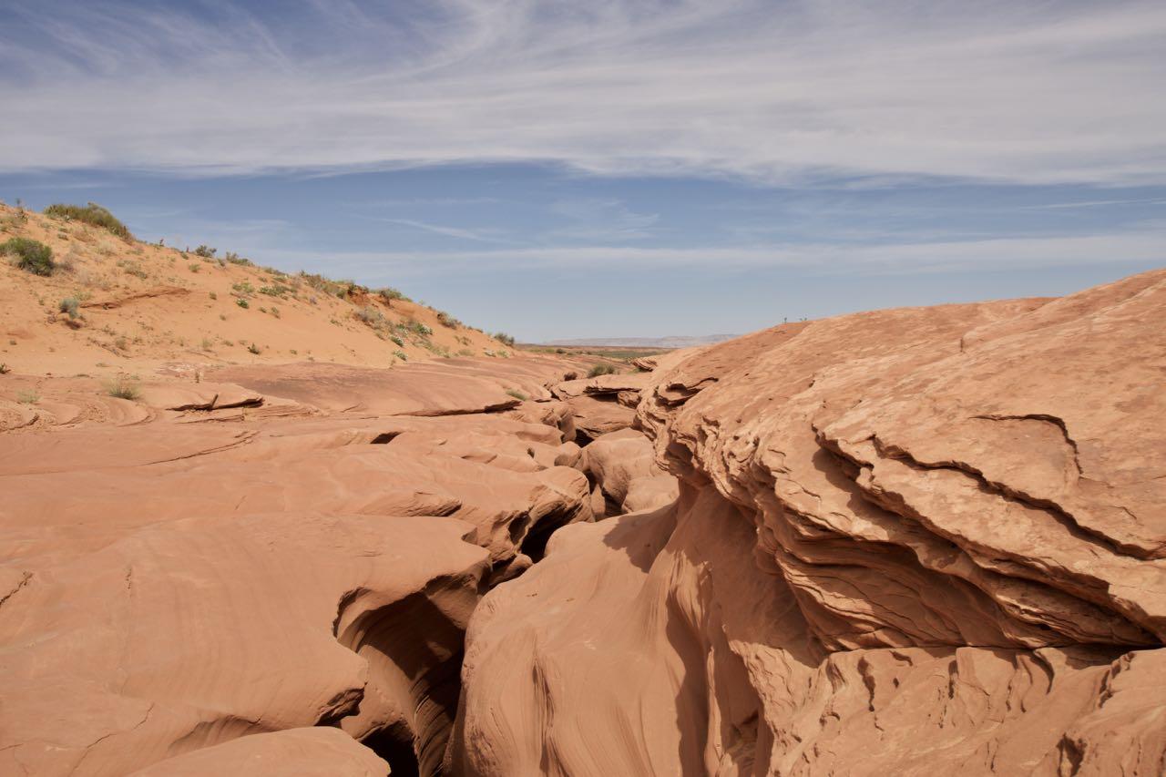 Schmale Canyon Öffnung