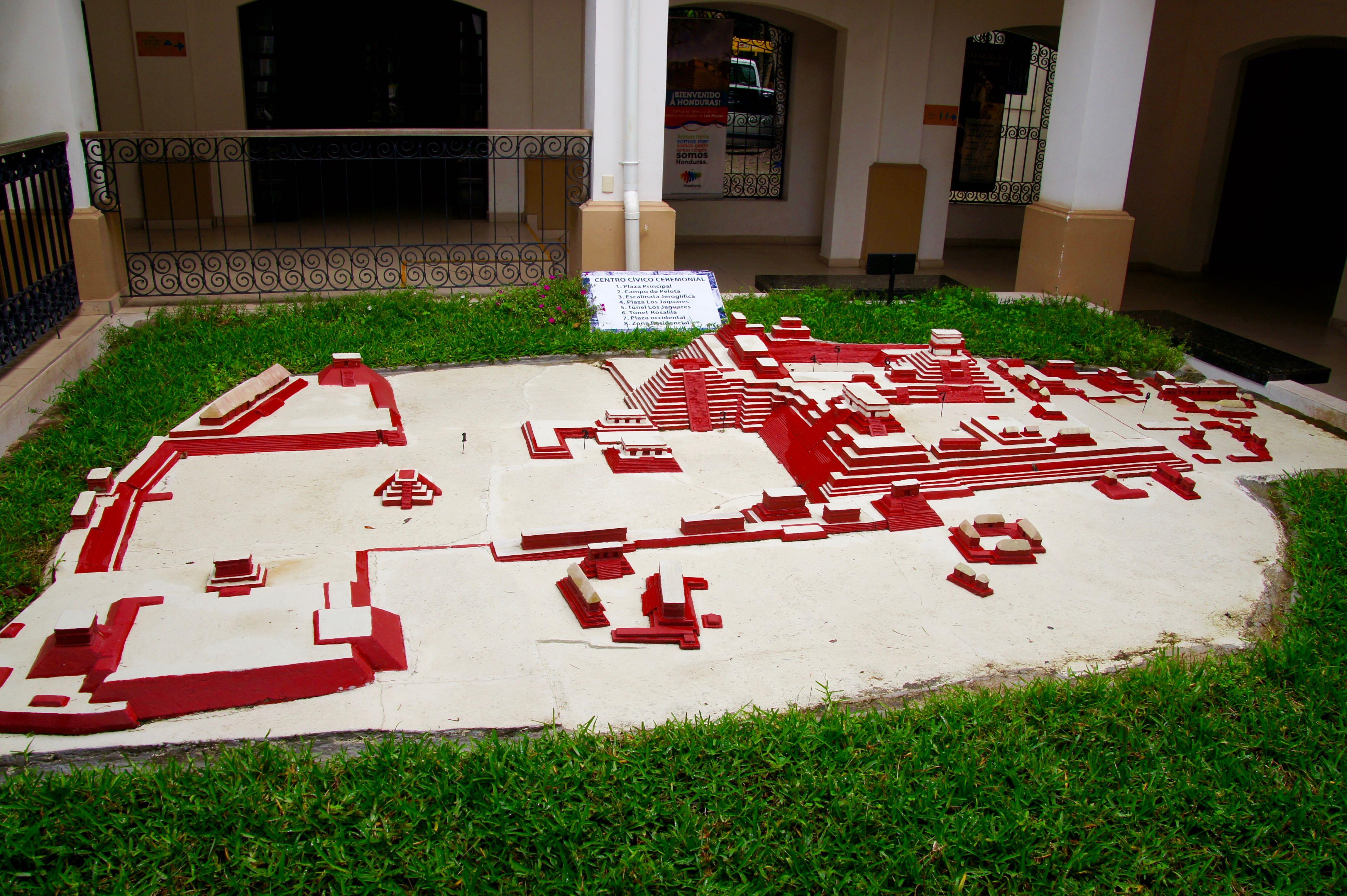 Modell der Ruinas Copàn